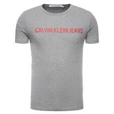 Calvin Klein Institutional Logo Slim T-Shirt – Grey Heather, 100% Authentic, New