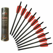 L@@K COBRA R9 ADDER Crossbow ARROWS10 Carbon RED BOLTS15inch PREPPER !!
