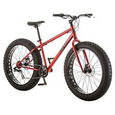 """26"""" Mongoose Hitch Fat Tire Men's 7-speed Mountain Bike Bicycle Red New Beach"""