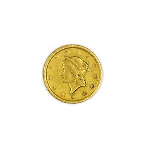 1849-O $1 LIBERTY HEAD 90% GOLD COLLECTIBLE US COIN F-VF CONDITION