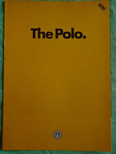 VW Polo range brochure 1981