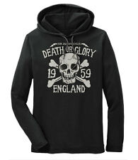 Iron Jaw Motorcycles Death or Glory England vintage Hooded Long Sleeve t-shirt