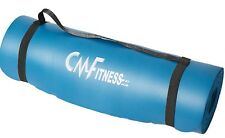 Yoga Mat By CM Fitness Non Slip With Carry Strap 183cm X 60cm X 12mm Thick Blue