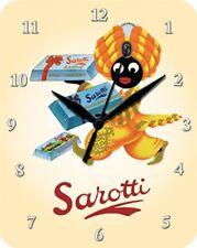 SAROTTI SCHOKOLADE MOHR  - Blechuhr Wanduhr Uhr Clock 86