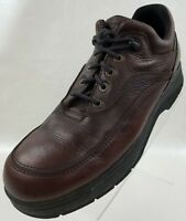 Dexter Mens Oxford Casual Brown Leather Apron Toe Lace Up Shoes Size 11M
