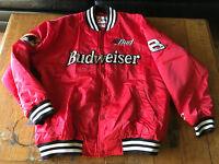 Bud Racing Jacket Budweiser Dale Earnhardt JR Red Chase XL #8 Outlaw NASCAR Coat