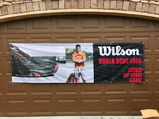 New 10' x 3' Wilson Kaos Shoe World Demo Tour Tennis Match Tournament Banner Ad