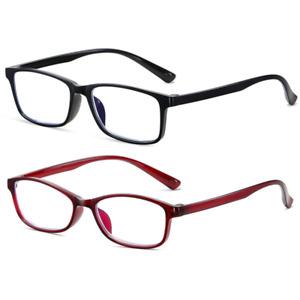 2 Pairs Reading Glasses Mens Womens Lightweight Designer Style Reader 1.00 -4.00