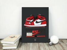 Air Jordan 1 - POSTER, Hoch,Chicago, pine, Green, Spidermen, Tinker, Bred