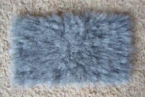 1:12 scale Grey Fur Rug for dolls house (very realistic)