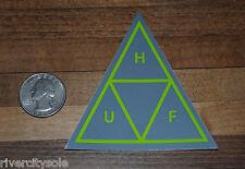 HUF SF Triangle  Grey / Lime DBC Sticker Decal Supreme