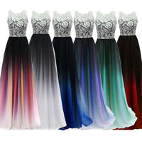 NEW Evening Formal Party Ball Gown Prom Bridesmaid Gradient Lace Dress TSJY 6-24