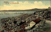 Gibraltar AK ~1910 General View Panorama Commercial Mole Verlag Beanland Molin
