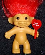 """I Love Your Buns Russ Message Troll 3"""" New In Bag"""