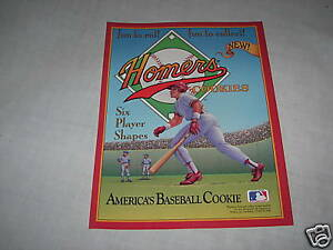 HOMERS cookies baseball players advertising sign old