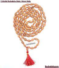 2 Mukhi Rudraksha Mala / Moon Mala - Java - 109 beads