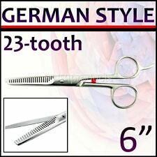 "6"" Pro GERMAN STYLE Hair Thinning Scissors 23 TOOTH Barber Thinner Shears GR160"