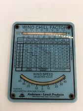 Vintage Collectable Andersom-Leuck Wind Chill Device Rare Weather Item 1978-80s