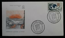 1963 Chad Freedom From Hunger FDC ties 25F+5F stamp cancelled Fort-Lamy