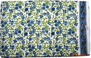 Indian Cotton Hand Block Print Floral Print Fabric Indian Craft Fabric 10 Yards