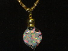 FLOATING WELO KYOCERA  OPAL PENDANT NECKLACE 18k gold filled