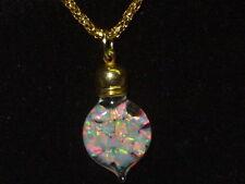 Snow Globe Heart Pendant Necklace Opal Pendant Fiery Floating Opal