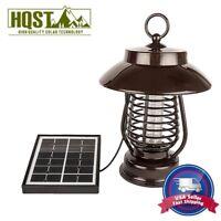 Solar Powered LED Lamp & Bug Zapper Mosquito Killer Insect Repeller Light Garden