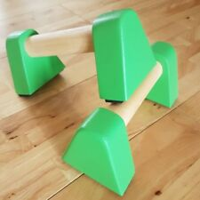 Compact Wooden Parallette Push Up Bars. Various Colours Available. Gym Fit Yoga
