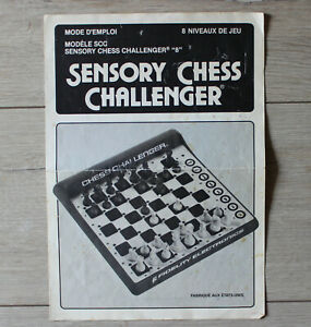 Sensory Chess Challenger SCC Fidelity Electronics Notice Rechange