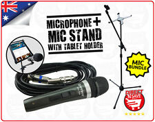 Wired Dynamic Microphone WG-198 + Microphone & Tablet Stand Phone Mount 2 in 1