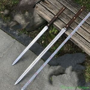 Battle Ready Bloodthirsty Short Sword Camping Sword Spring Steel Sharp #2293