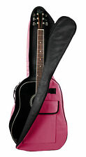Wine Red Acoustic Guitar Case For Gibson, Ibanez, Tanglewood, Yamaha & Fender