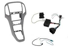 Mascherina kit completo Doppio 2 DIN Opel Astra J Titan Gray con comandi volante