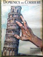 La Domenica del Corriere 12 Maggio 1963 Torre Pisa Bongiorno Storia Fotografia