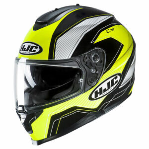 HJC C70 Lianto Fluo Green Motorbike Motorcycle Helmet