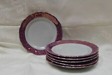 1 Rare Purple Marble & Gold replacement Cake plate Wawel China from Poland