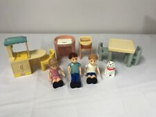 Vintage Little Tikes Dollhouse 11 Piece Lot