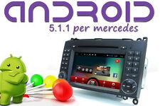 AUTORADIO 2 DIN Android 5.1 QUADCORE 4 DvD GPS MERCEDES CLASSE A B VITO Sprinter