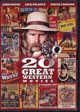 20 Great Western Movies (DVD) John Wayne, Jack Palance, Chuck Connors