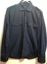 Vintage Gucci Tom Ford Era Epaulet Black Button up Shirt Slim SZ 16/41