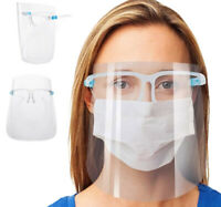 Clear Face Shield with Glasses Anti Fog Protective Safety Covers - Pack of Six