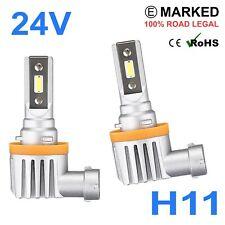 2 x 24v LED H11 Headlight Hella Spot 320FF HGV Truck Xenon White PGJ19-2