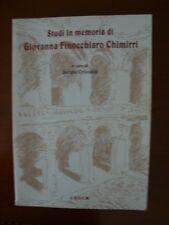 Sergio Cristaldi - Studi in memoria di Giovanna Finocchiaro Chimirri -C.U.E.C.M.