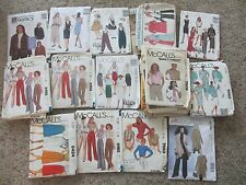MCCALLS SEWING PATTERNS - WOMENS & GIRLS - SIZES 8-22  - FREE SHIPPING!! over 50