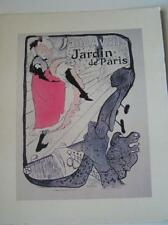 Poster Jane Avril Jardin de Paris Toulouse-Lautrec Design 1978 Arthur A. Kaplan