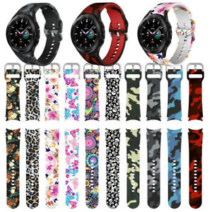For Samsung Galaxy Watch 4 Pattern Printed Sport Replacement Watch Band Strap