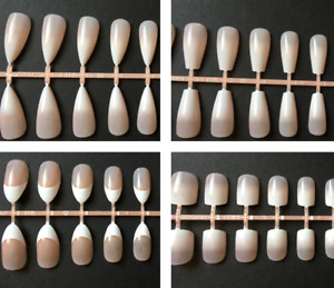 Various Styles of French Manicure Full Cover False Nails - UK Seller
