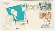 STORIA POSTALE 1961 REPUBBLICA GRONCHI L.185+L.5 GIOCHI OLIMPIACI SUBUSTA Z/1848