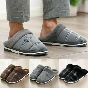 Large Size Men Fur Slippers Winter Warm Cozy House Slippers Indoor Home All Size
