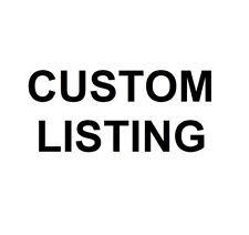 UPGRADE TO CUSTOM SIZING - only purchase when prompted by us